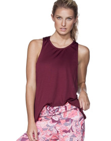 Maaji Active Crimson Player Tank Top with Bra