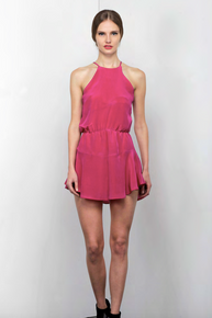 Karina Grimaldi Romina Mini Dress Orchid