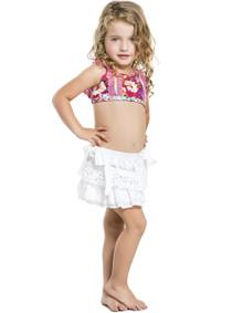 2016 Agua Bendita Kids Bendito Cristal Skirt White