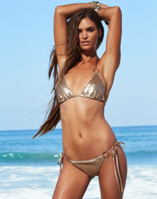 Beach Bunny Swimwear Siren Song Gold