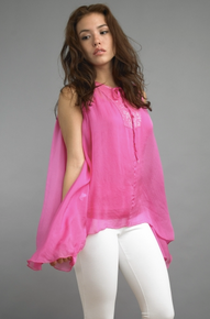Tempo Paris 4447JL Sequence Yoke Tie Top Magenta