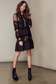 For Love and Lemons Alexa Mini Dress Black