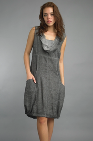 Tempo Paris Linen Dress 354SO Gray