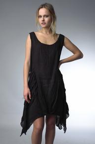 Tempo Paris Linen Dress 7481T Black