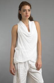 Tempo Paris 2113SO Cowl Neck Sleeveless Top White