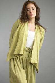 Tempo Paris Linen Jacket 192LA Citron