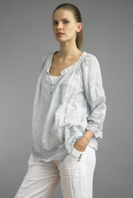 Tempo Paris 1104TJL Embroidered Blouse Sk