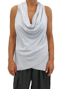 Tempo Paris 2113SO Cowl Neck Sleeveless Top Silver