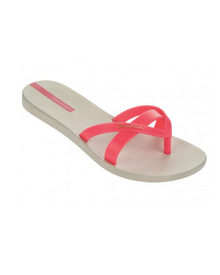 Ipanema Kirei Flip Flop Beige with Pink