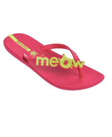 Ipanema Kids Meow Flip Flops Pink Yellow