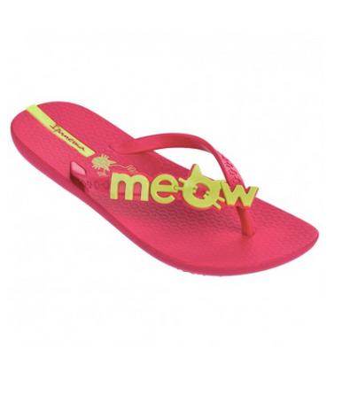 Ipanema Kids Meow Flip Flops Pink Yellow