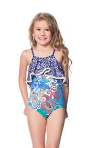 Maaji Kids Swimwear Garden Scrapbook One Piece Swimsuit