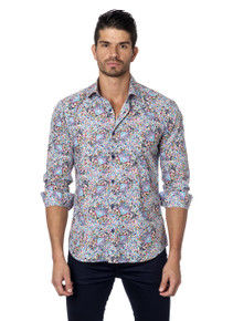 Jared Lang Button Down Shirt Tom 131 Butterflies