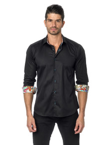 Jared Lang Button Down Shirt Thomas 127 Black