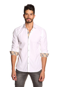 Jared Lang Button Down Shirt Thomas 092 White