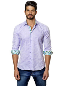 Jared Lang Button Down Shirt T-34 Lavender