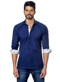 Jared Lang Button Down Shirt T-50 Navy
