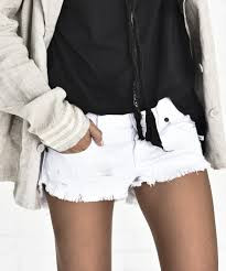 One Teaspoon Bonitas Cutoff Shorts White Beauty