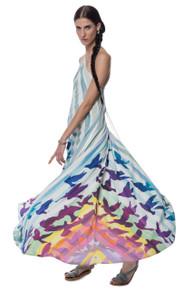 Mara Hoffman Low Back Maxi Dress Prismatic Print