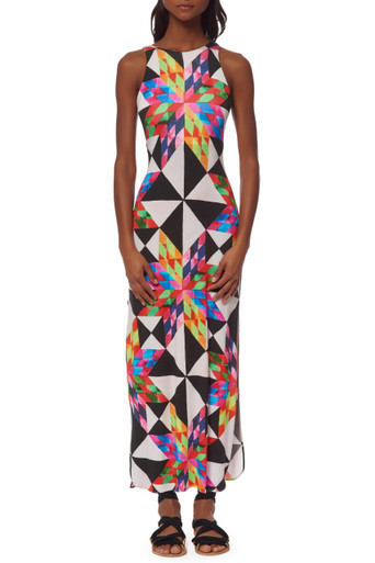 Mara Hoffman Column Maxi Dress Fractals Red