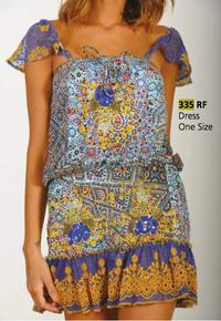 Antica Sartoria Dress 335 Blue Print