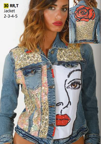Antica Sartoria 30 Embellished Denim Jacket