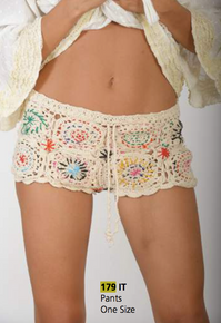 Antica Sartoria 179 Crochet Shorts Beige