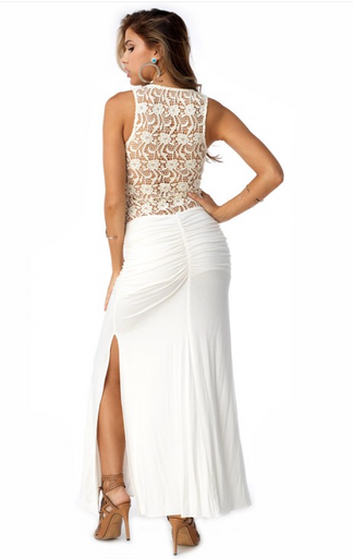 Sky Mosi Maxi Dress Bone
