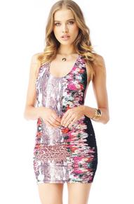 Sky Inge Mini Dress Flower Print