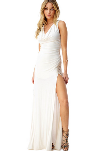 Sky Tinoo Maxi Dress Bone