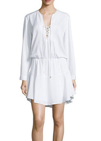 Karina Grimaldi Carol Solid Mini Dress White
