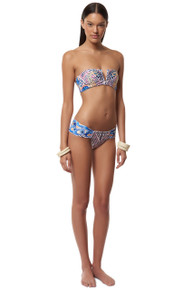 Mara Hoffman V Wire Strapless Bikini Set Peacocks Peach