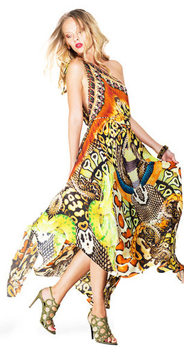 Shada Parides Python Snake Three Way Dress Brown