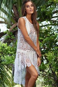 PilyQ Island Lace Dress White