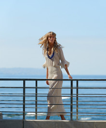 Vix Swimwear Solid Off White Weekend Long Dress
