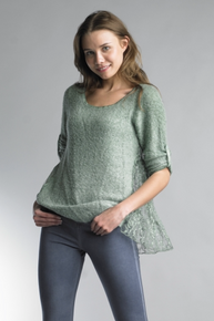 Tempo Paris Back Lace Sweater 2526SO Green