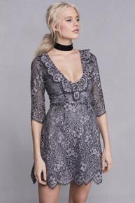 For Love and Lemons Theodora Mini Dress Vintage Grey