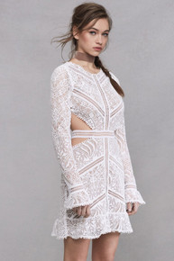 For Love and Lemons Emerie Cut Out Dress White