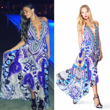 Shahida Parides Python Snake Three Way Dress Blue