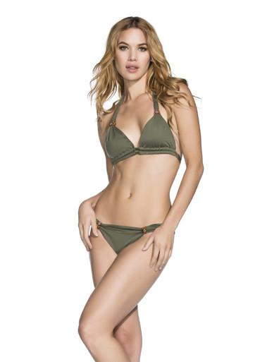 2017 Agua Bendita Bendito Cetrino Bikini Set Army Green