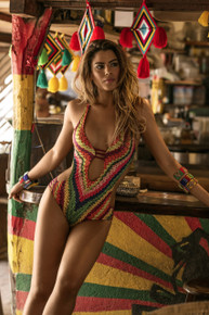 2017 Agua Bendita Bendito Telar One Piece Swimsuit