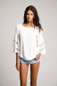 Muche et Muchette Jolie Off the Shoulder Top White