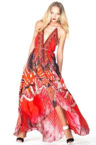 Shahida Parides Avatar Three Way Dress Red
