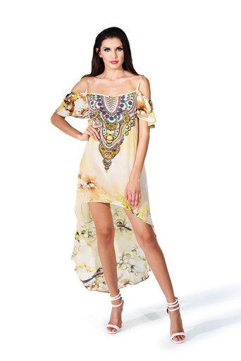 Parides Hi-Low Cami Dress Cherry Blossom