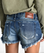 One Teaspoon Bonitas Cutoff Shorts Blue Cult
