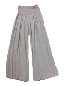 Tempo Paris 11211SO Flowy Silk Blend Pants Silver