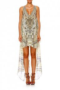 Camilla Handiras Hold Multi Layer V-neck Short Dress