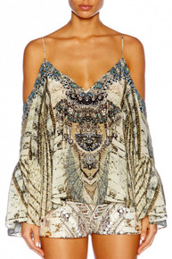 Camilla Love Weave Drop Shoulder Top