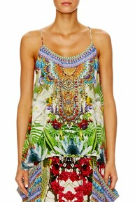 Camilla Exotic Hypnotic Tback Shoestring Strap Top