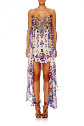 Camilla Mother Knows Best Mini Dress with Long Overlay